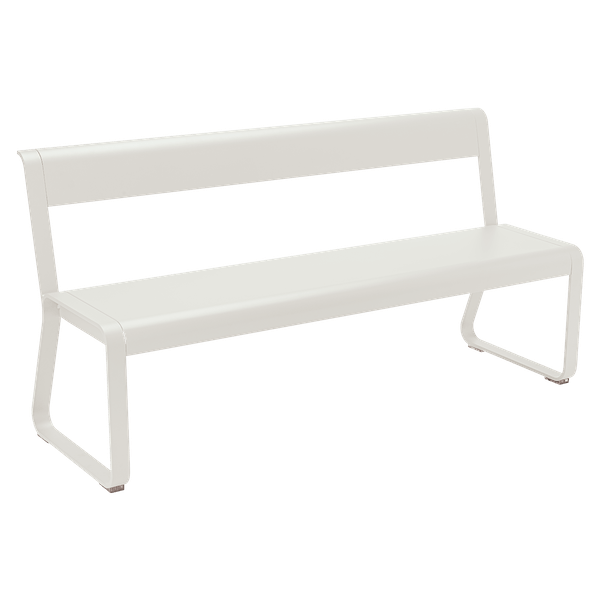 Fermob Bellevie Bench with Back in Clay Grey