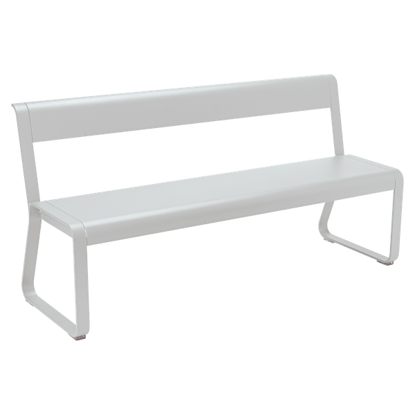 Fermob Bellevie Bench with Back in Steel Grey
