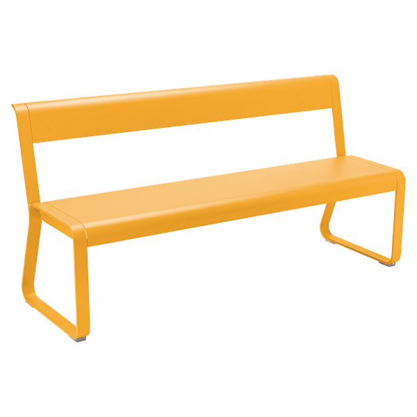 Fermob Bellevie Bench with Back in Honey