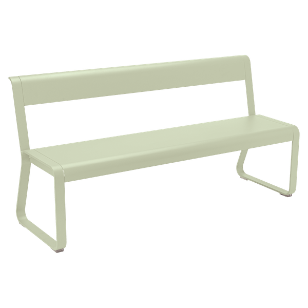 Fermob Bellevie Bench with Back in Willow Green