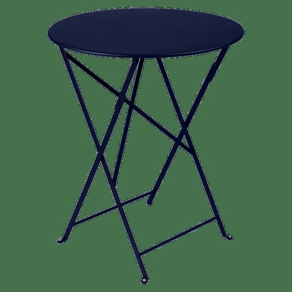 Fermob Bistro Table Round 60cm in Deep Blue