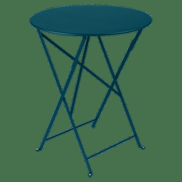 Fermob Bistro Table Round 60cm in Acapulco Blue
