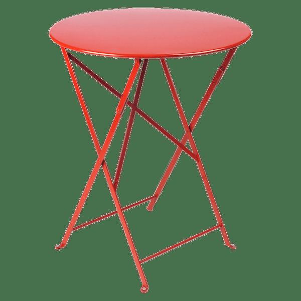 Fermob Bistro Table Round 60cm in Poppy