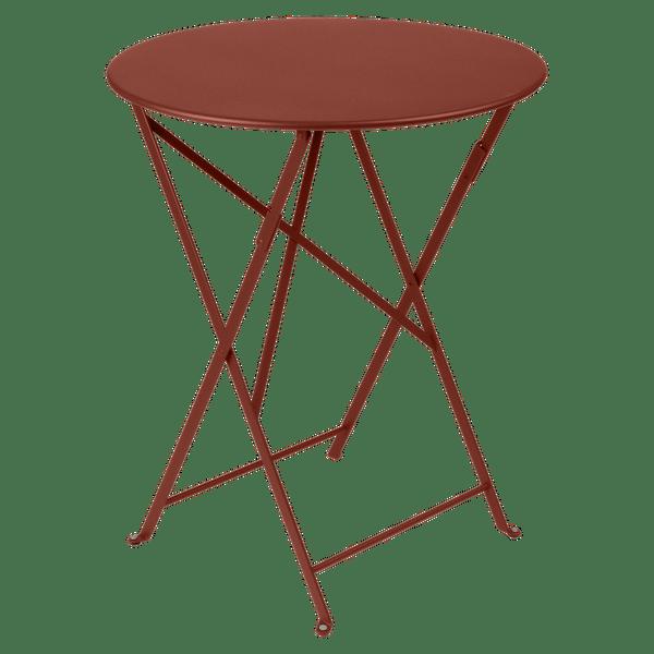 Fermob Bistro Table Round 60cm in Red Ochre