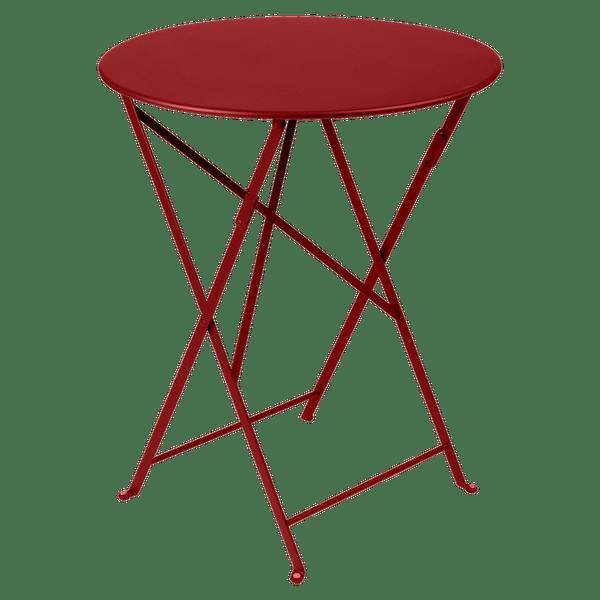 Fermob Bistro Table Round 60cm in Chilli