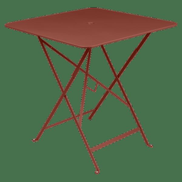 Fermob Bistro Table Square 71 x 71cm in Red Ochre