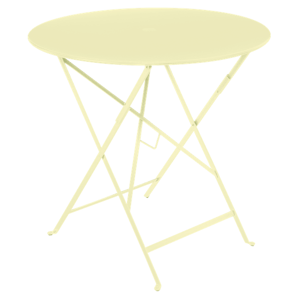 Fermob Bistro Table Round 77cm in Frosted Lemon