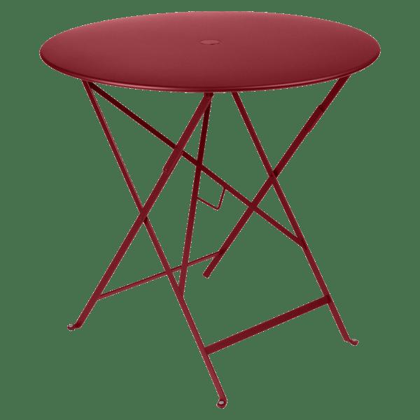 Fermob Bistro Table Round 77cm in Chilli