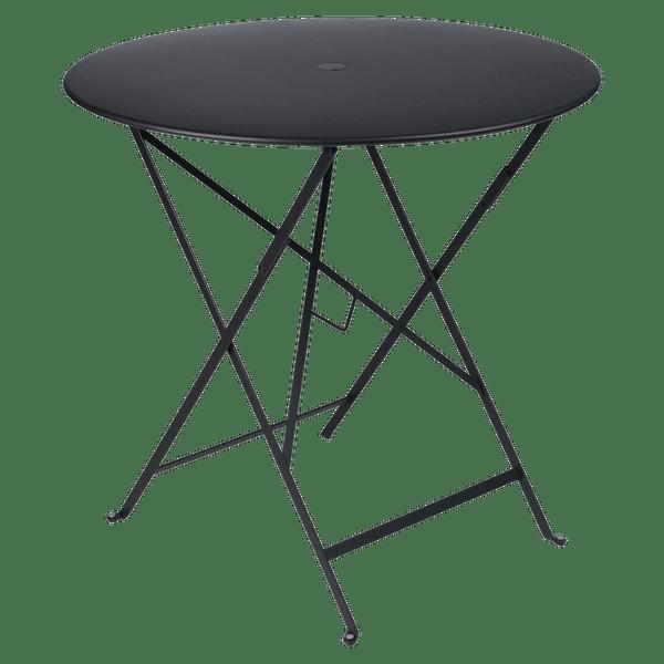 Fermob Bistro Table Round 77cm in Liquorice