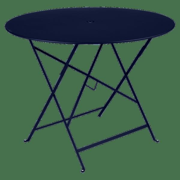 Fermob Bistro Table Round 96cm in Deep Blue