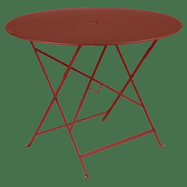 Fermob Bistro Table Round 96cm in Red Ochre