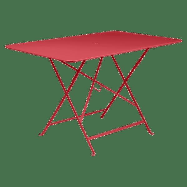 Fermob Bistro Table Rectangle 117 x 77cm in Poppy