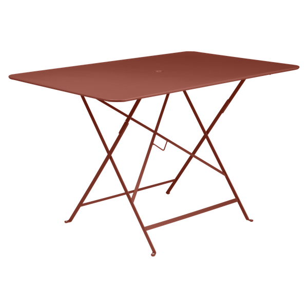 Fermob Bistro Table Rectangle 117 x 77cm in Red Ochre