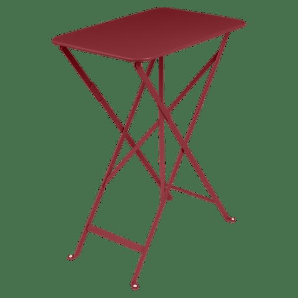 Fermob Bistro Table Rectangle 57 x 37cm in Chilli
