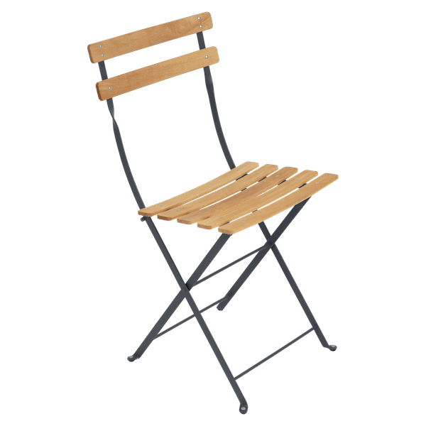 Fermob Bistro Folding Chair - Natural Slats in Anthracite