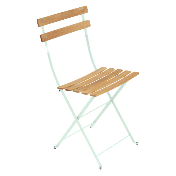 Fermob Bistro Folding Chair - Natural Slats in Ice Mint