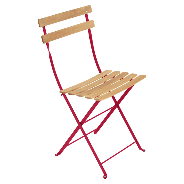 Fermob Bistro Folding Chair - Natural Slats in Pink Praline