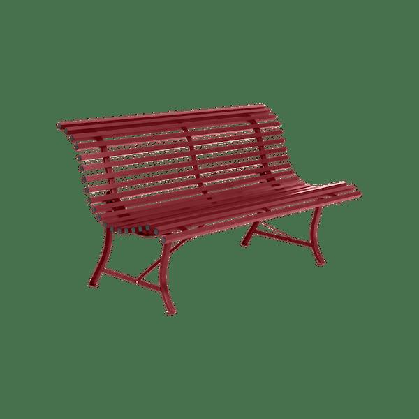 Fermob Louisiane Bench 150cm in Chilli