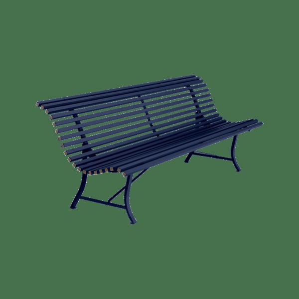 Fermob Louisiane Bench 200cm in Deep Blue
