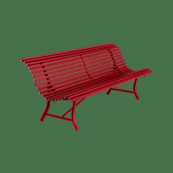 Fermob Louisiane Bench 200cm in Poppy