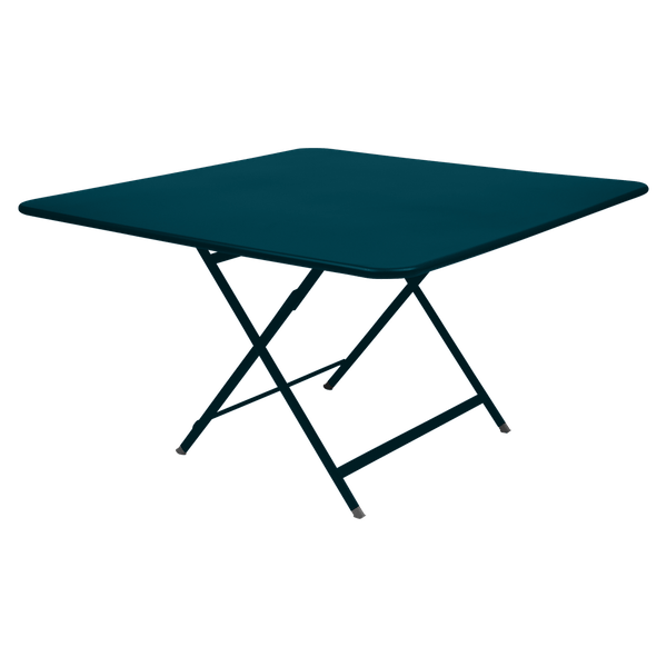 Fermob Caractère Table 128 x 128cm in Acapulco Blue