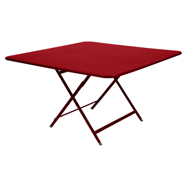 Fermob Caractère Table 128 x 128cm in Poppy