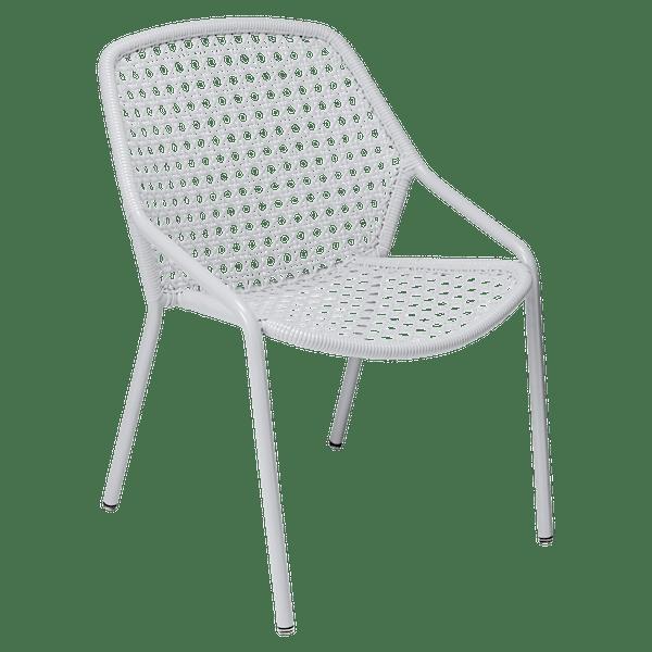 Fermob Croisette Armchair in Cotton White