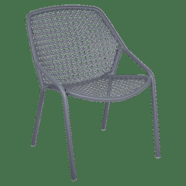 Fermob Croisette Armchair in Storm Grey