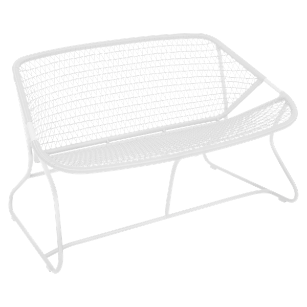 Fermob Sixties Bench in Cotton White