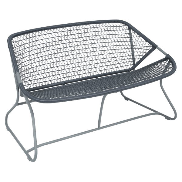 Fermob Sixties Bench in Storm Grey