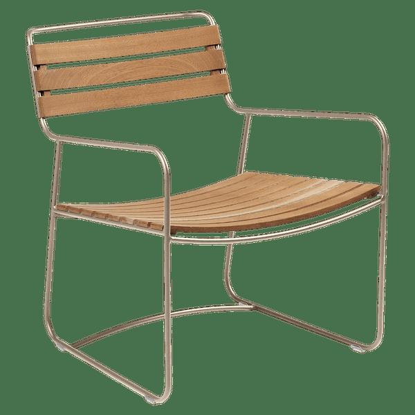 Fermob Low Armchair- Teak in Nutmeg