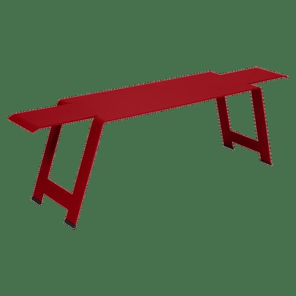 Fermob Origami Bench in Poppy